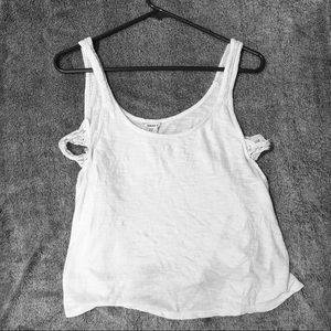 FOREVER 21 White Flowy Top